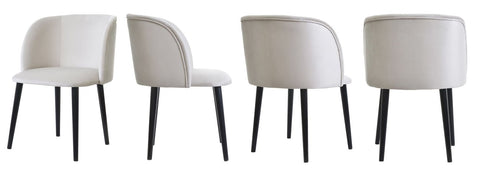 Mona Set - Velvet Dining Chair Set-Chair Set-Belle Fierté