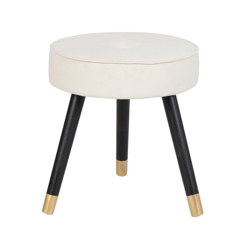 Java - Round Velvet Footstool-Benches & Ottomans-Belle Fierté