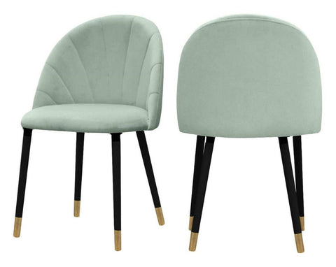 Kimberly - Sage Green Velvet Dining Chair, Set of 2-Chair Set-Belle Fierté