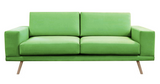 Clara - Contemporary 3 Seater Velvet Sofa-Sofa-Belle Fierté