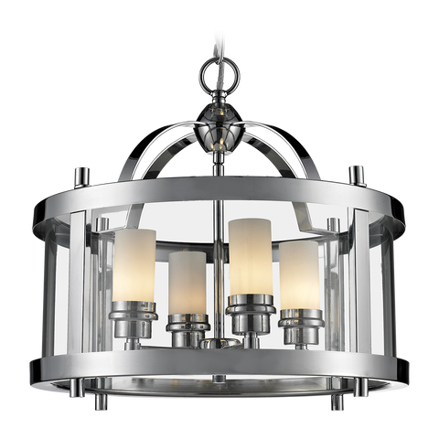 ORLANDO - Glamour Ceiling Lamp, Glass Chrome Lantern Style Chandelier-Chandelier-Belle Fierté
