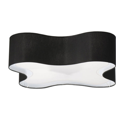 Orville - Black XL Flush Ceiling Lamp-Chandelier-Belle Fierté