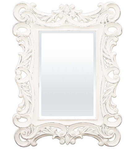 Vicente - Shabby Chic White Mirror-Mirrors-Belle Fierté