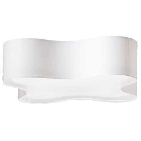 Percy - White XL Flush Ceiling Lamp-Chandelier-Belle Fierté