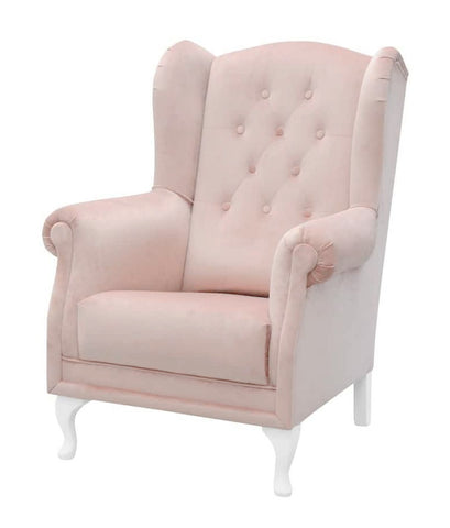 Parma - Backwing Velvet Chair, Wing Armchair-Armchair-Belle Fierté