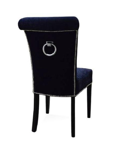 Heather - Luxury Chesterfield Studded Velvet Back Ring Dining Chair-Chair-Belle Fierté