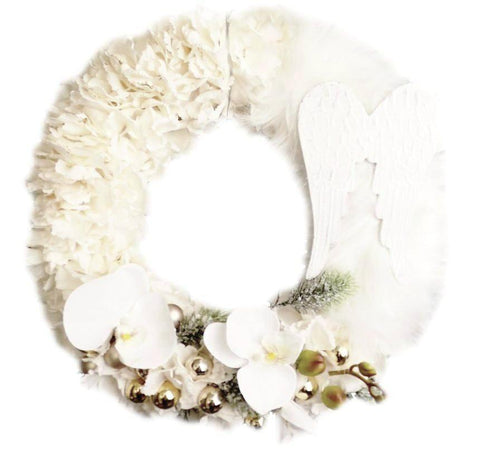 Door Wreath - Luxury Feather Christmas Home Door Decoration-Christmas Decorations-Belle Fierté
