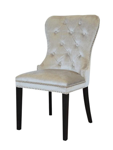 Madison - Chesterfield Knocker Velvet Dining Chair-Chair-Belle Fierté
