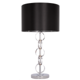 VALENCIA- Glamour Black Chrome 76cm Table Lamp-Table Lamp-Belle Fierté