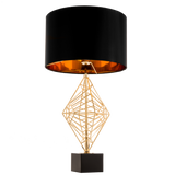 GIULIO II - Luxury Table Lamp, Black Shade Gold Finish Glamour Table Lamp-Table Lamp-Belle Fierté