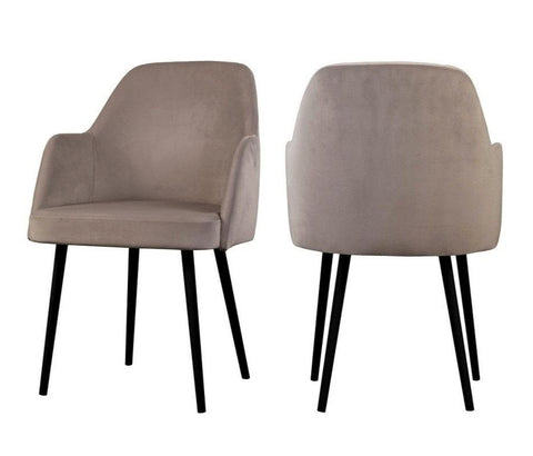 Mocate - Taupe Modern Velvet Dining Chair, Set of 2-Chair-Belle Fierté