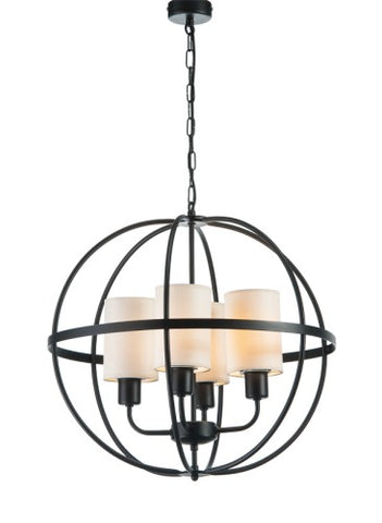 Hardy - 4 Light Rustic Farmhouse Metal Sphere Chandelier-Chandelier-Belle Fierté