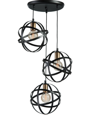 FENNA - 3 Light Drop Modern Pendant Ceiling Lamp-Ceiling Lamp-Belle Fierté