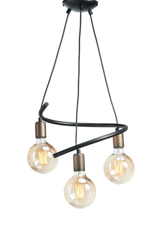 Aya - 3 Light Modern Metal Ceiling Pendant Lamp-Ceiling Lamp-Belle Fierté