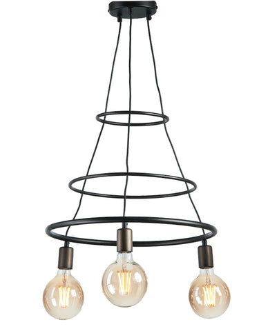 Inaya - 3 Light Modern Metal Ceiling Lamp-Ceiling Lamp-Belle Fierté