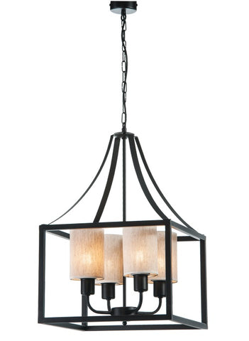 ANTON - Rustic 4 Light Farmhouse Ceiling Lamp-Ceiling Lamp-Belle Fierté