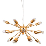 Nova- Modern 18 Light Gold Ceiling Lamp, Contemporary Chandelier-Ceiling Lamp-Belle Fierté