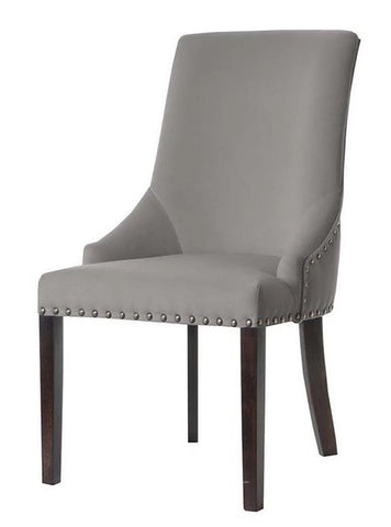 Pippa - Nailhead Upholstered Dining Chair-Chair-Belle Fierté