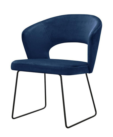 Nova - Metal Base Velvet Dining Chair-Chair-Belle Fierté