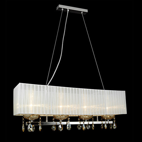 Luca - White Shade Over Table Ceiling Pendant Lamp, Kitchen Dining Room Lighting-Ceiling Lamp-Belle Fierté