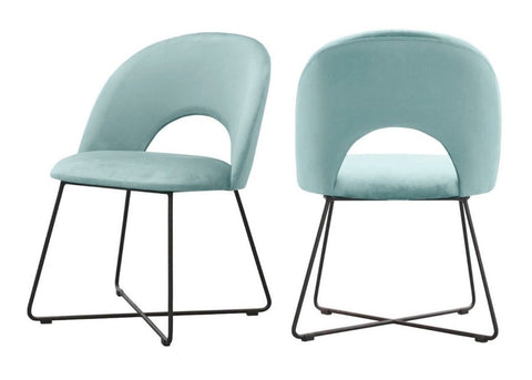 Palma - Mint Velvet Metal Base Dining Chair, Set of 2-Chair-Belle Fierté