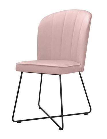 Rose - Velvet Dining Chair, Metal Leg Chair-Chair-Belle Fierté