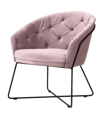 Kaylee - Contemporary Velvet Armchair, Occasional Chair-Armchair-Belle Fierté