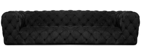 Preston- Luxury Contemporary Fully Tufted Suede Fabric Sofa-Sofa-Belle Fierté
