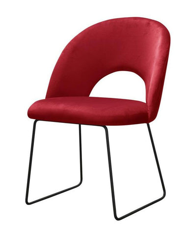 Johansson - Modern Velvet Metal Base Dining Chair-Chair-Belle Fierté