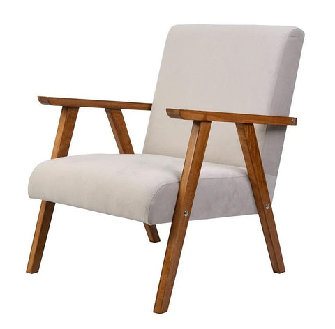 Liam - Velvet Occasional Chair, Retro Armchair-Chair-Belle Fierté