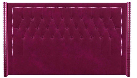 Mayfair - Luxury Floor Standing Velvet Chesterfield Headboard - King Size-Headboards-Belle Fierté
