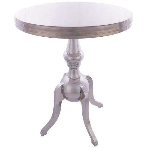JERSEY- Luxury Chrome Base Round Side Table-Side Tables-Belle Fierté