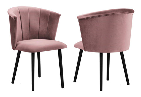 Sofia - Blush Pink Velvet Dining Chair, Set of 2-Chair Set-Belle Fierté