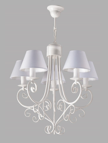 Armelle - White Shabby Chic French Style Chandelier-Chandelier-Belle Fierté