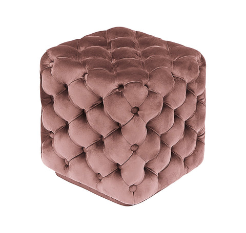 Nicole-Tufted Velvet Footstool-Benches & Ottomans-Belle Fierté