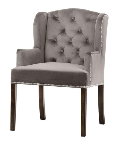 Anders - Tufted Occasional Velvet Chair-Chair-Belle Fierté