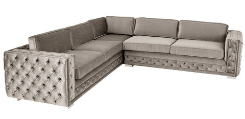 Libro - Luxury XL Chesterfield Velvet Corner Sofa-Sofa-Belle Fierté