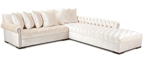 Knightsbridge - Luxury Chesterfield Velvet Corner Sofa-Sofa-Belle Fierté