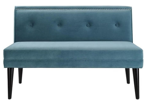 Emery - Velvet Dining Bench, Tufted Nailhead Settee-Benches & Ottomans-Belle Fierté