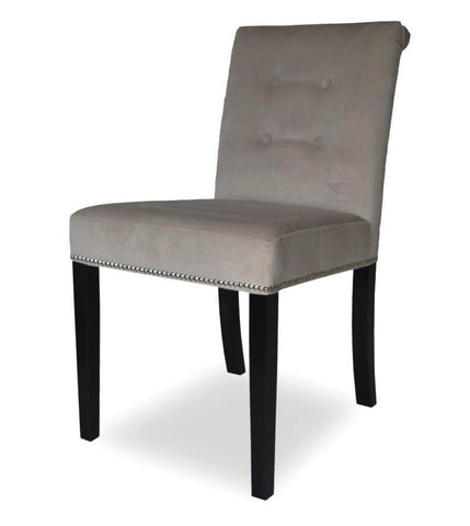 Sara - Buttoned Studded Velvet Dining Chair-Chair-Belle Fierté