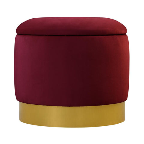 Cody - Velvet Footstool with a Storage-Benches & Ottomans-Belle Fierté