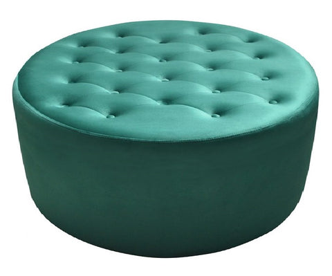 Estelle - Tufted Velvet Ottoman, Upholstered Coffee Table-Benches & Ottomans-Belle Fierté