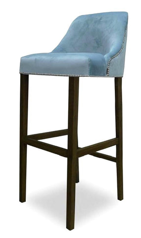 Kennedy - Elegant Velvet Kitchen Stool, Bar Chair-Bar chair-Belle Fierté