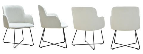 Nils - Modern Velvet Metal Base Dining Chair Set-Chair Set-Belle Fierté