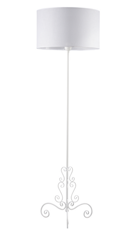 Manon - White Shade Floor Standing Lamp-Floor Lamp-Belle Fierté