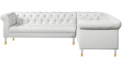 Donatella - Modern Genuine Italian Leather Chesterfield Corner Sofa-Sofa-Belle Fierté
