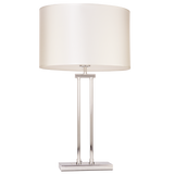 BAILEY - Glamour White and Chrome 60cm Table Lamp-Table Lamp-Belle Fierté