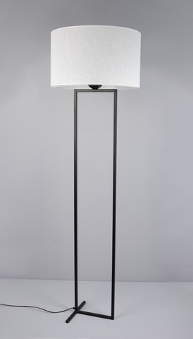 Laure - White Shade Floor Standing Lamp-Floor Lamp-Belle Fierté