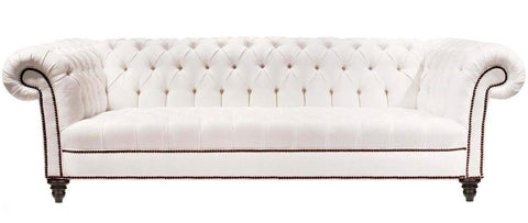Newington - Genuine Leather 3 Seather Chesterfield Sofa-Sofa-Belle Fierté