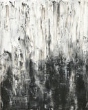 "Abstract Canvas Painting, Handmade Acrylic Painting - ""White n Black"" - Belle Fierté"